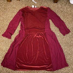 Burgundy/Maroon Velvet Dress